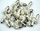 Free-shipping-BA9S-W6W-5-SMD-5050-Car-Wedge-led-Interior-License-Plate-Map-Dome-Lights